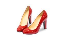 Κόκκινο θηλυκό παπούτσι-12 Στοκ εικόνα με δικαίωμα ελεύθερης χρήσης