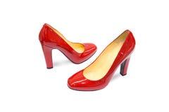 Κόκκινο θηλυκό παπούτσι-14 Στοκ Εικόνες