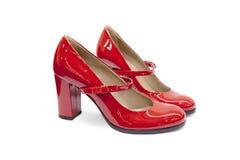 Κόκκινο θηλυκό παπούτσι-16 Στοκ Εικόνες