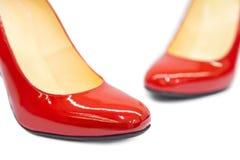 Κόκκινο θηλυκό παπούτσι-6 Στοκ εικόνες με δικαίωμα ελεύθερης χρήσης