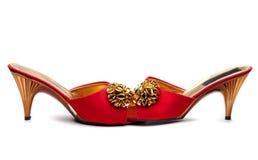 Κόκκινο θηλυκό παπούτσι ζευγαριού Στοκ φωτογραφία με δικαίωμα ελεύθερης χρήσης