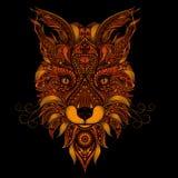 Κόκκινο διάνυσμα αλεπούδων Στοκ Εικόνες