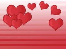 Κόκκινο διάνυσμα καρδιών Στοκ Φωτογραφίες