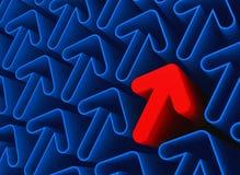 κόκκινο διάνυσμα πλέγματος βελών Στοκ φωτογραφία με δικαίωμα ελεύθερης χρήσης