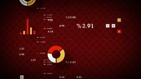 Κόκκινο διαγραμμάτων απόδοσης αποθεμάτων διανυσματική απεικόνιση