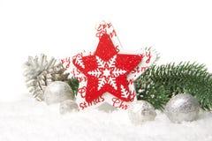 Κόκκινο διακοσμήσεων Χριστουγέννων Στοκ εικόνα με δικαίωμα ελεύθερης χρήσης