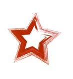 Κόκκινο διανυσματικό αστέρι grunge Στοκ εικόνα με δικαίωμα ελεύθερης χρήσης