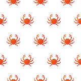 Κόκκινο διανυσματικό σχέδιο κινούμενων σχεδίων καβουριών Στοκ εικόνες με δικαίωμα ελεύθερης χρήσης