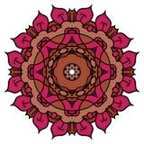 Κόκκινο διανυσματικό mandala Στοκ Φωτογραφίες