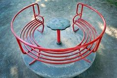 Κόκκινο ιπποδρόμιο παιδιών Στοκ Εικόνες