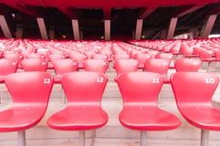 Κόκκινο κάθισμα στο εθνικό στάδιο, Πεκίνο, Κίνα στις 22 Μαΐου 2013 Στοκ εικόνες με δικαίωμα ελεύθερης χρήσης