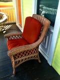 Κόκκινο κάθισμα στο μέρος στοκ εικόνες