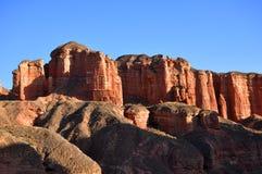 Κόκκινο κάστρο βράχου στοκ εικόνα με δικαίωμα ελεύθερης χρήσης