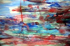 Κόκκινο κέρινο αφηρημένο υπόβαθρο watercolor Στοκ Εικόνα