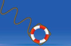 Κόκκινο και άσπρο δαχτυλίδι διάσωσης ελεύθερη απεικόνιση δικαιώματος