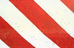 Κόκκινο και άσπρο εμπόδιο Στοκ Εικόνα