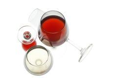 Κόκκινο και άσπρο κρασί Στοκ Φωτογραφίες