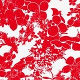 Κόκκινο και άσπρο floral άνευ ραφής πρότυπο Στοκ εικόνα με δικαίωμα ελεύθερης χρήσης