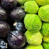 Κόκκινο και λάχανο κραμπολάχανου Στοκ Εικόνες