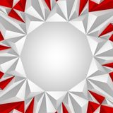 Κόκκινο και λευκό υποβάθρου τριγώνων Στοκ εικόνες με δικαίωμα ελεύθερης χρήσης