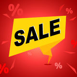 Κόκκινο και κίτρινο έμβλημα πώλησης Στοκ Φωτογραφίες
