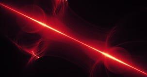 Κόκκινο και κίτρινο αφηρημένο υπόβαθρο μορίων καμπυλών γραμμών Στοκ Φωτογραφία