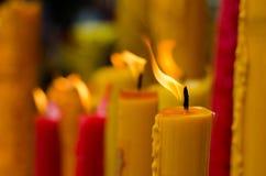 Κόκκινο και κίτρινο κερί Στοκ φωτογραφία με δικαίωμα ελεύθερης χρήσης