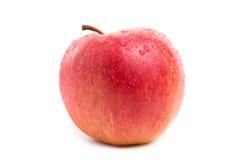 Κόκκινο και κίτρινο μήλο που απομονώνεται στο άσπρο υπόβαθρο Στοκ Φωτογραφία