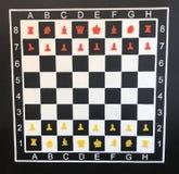 κόκκινο και λευκό σκακιού αρχικής θέσης σχεδίου στοκ φωτογραφίες
