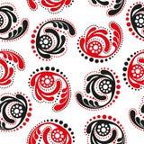 Κόκκινο και μαύρο αφηρημένο άνευ ραφής υπόβαθρο Στοκ Φωτογραφία