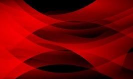 κόκκινο και μαύρο αφηρημένο υπόβαθρο κυμάτων, ταπετσαρία με την επίδραση φωτισμού, ομαλή, καμπύλη, διανυσματική απεικόνιση απεικόνιση αποθεμάτων