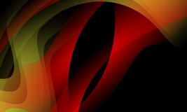 κόκκινο και μαύρο αφηρημένο υπόβαθρο κυμάτων, ταπετσαρία με την επίδραση φωτισμού, ομαλή, καμπύλη, διανυσματική απεικόνιση διανυσματική απεικόνιση