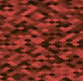 Κόκκινο και μαύρο γεωμετρικό στριμωγμένο άνευ ραφής σχέδιο Στοκ Εικόνες