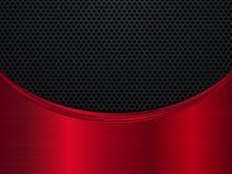 Κόκκινο και μαύρο μεταλλικό υπόβαθρο Υπόβαθρο μετάλλων με το κύμα αφηρημένη διανυσματική απεικόνιση Στοκ φωτογραφία με δικαίωμα ελεύθερης χρήσης