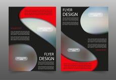 Κόκκινο και μαύρο πρότυπο σχεδιαγράμματος σχεδίου ιπτάμενων επιχειρησιακών φυλλάδιων αφισών Στοκ Εικόνες