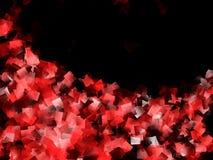 Κόκκινο και μαύρο σχέδιο κυβισμού διανυσματική απεικόνιση