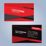Κόκκινο και μαύρο σύγχρονο πρότυπο επαγγελματικών καρτών Στοκ Φωτογραφία