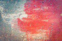 Κόκκινο και μπλε σχέδιο χρωστικών ουσιών Στοκ εικόνα με δικαίωμα ελεύθερης χρήσης