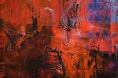 Κόκκινο και μπλε υπόβαθρο ελαιοχρωμάτων στοκ εικόνες