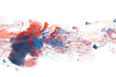 Κόκκινο και μπλε μελάνι Στοκ Εικόνες