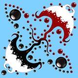 Κόκκινο και ο Μαύρος manti δύο θάλασσας Στοκ εικόνες με δικαίωμα ελεύθερης χρήσης