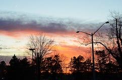 Κόκκινο και πορτοκάλι ηλιοβασιλέματος Reston στοκ φωτογραφία με δικαίωμα ελεύθερης χρήσης