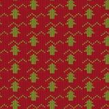 Κόκκινο και πράσινο δέντρο με το πλέκοντας υπόβαθρο σχεδίων γραμμών τρεκλίσματος Στοκ φωτογραφία με δικαίωμα ελεύθερης χρήσης