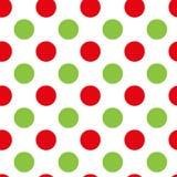 Κόκκινο και πράσινο σχέδιο σημείων Διανυσματικό άνευ ραφής σχέδιο σημείων Στοκ φωτογραφία με δικαίωμα ελεύθερης χρήσης