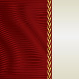 Κόκκινο και υπόβαθρο ecru Στοκ φωτογραφίες με δικαίωμα ελεύθερης χρήσης