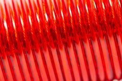 Κόκκινο καλώδιο ως σκηνικό Μακροεντολή Στοκ Φωτογραφίες