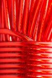 Κόκκινο καλώδιο ως σκηνικό Μακροεντολή Στοκ φωτογραφία με δικαίωμα ελεύθερης χρήσης