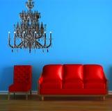 κόκκινο καναπέδων πολυε Στοκ Εικόνες