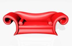 κόκκινο καναπέδων απεικόνιση αποθεμάτων