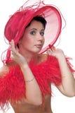 κόκκινο καπέλων κοκετών Στοκ Φωτογραφίες
